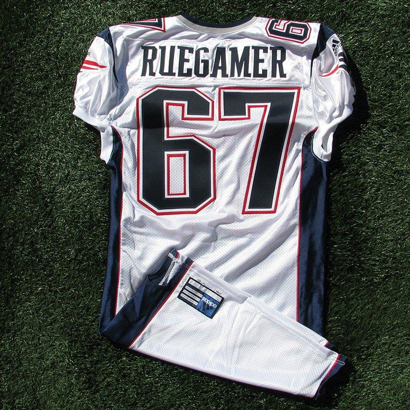 2001 Grey Ruegamer Team Issued #67 White Jersey