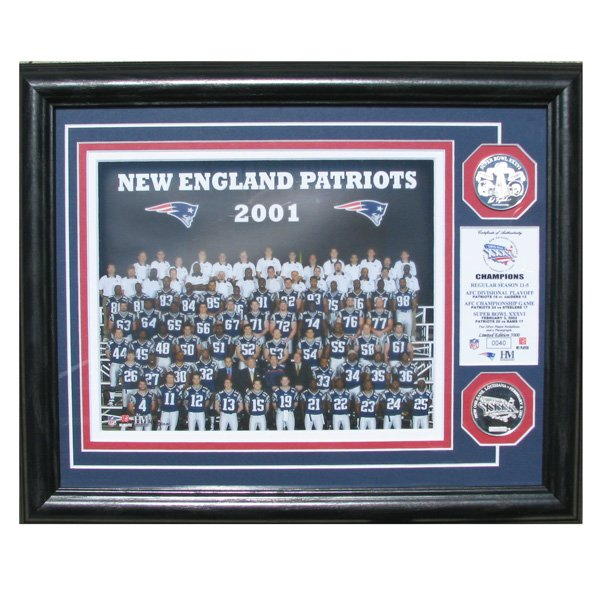Super Bowl XXXVI Champs Team Photo Mint