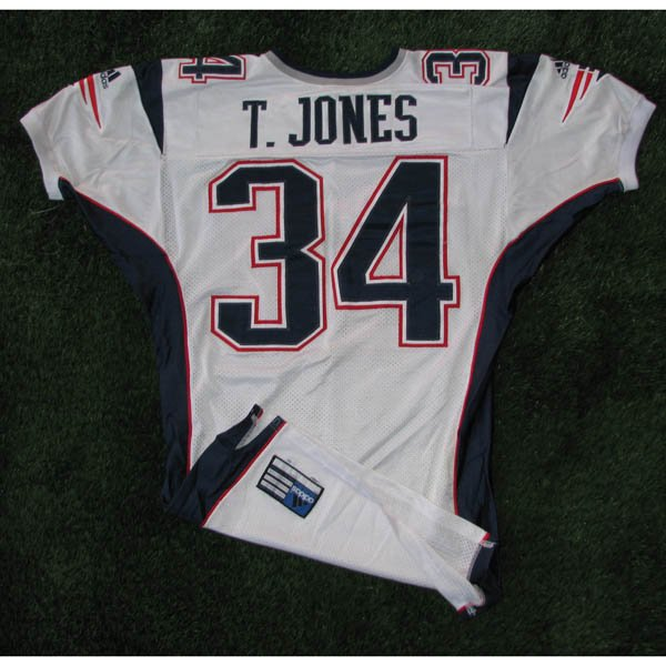2001 Tebucky Jones #34 Game Worn White Jersey