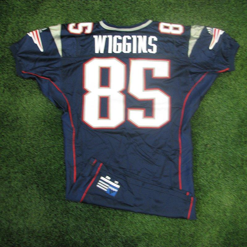 2001 Jermaine Wiggins Team Issued #85 Navy Jersey