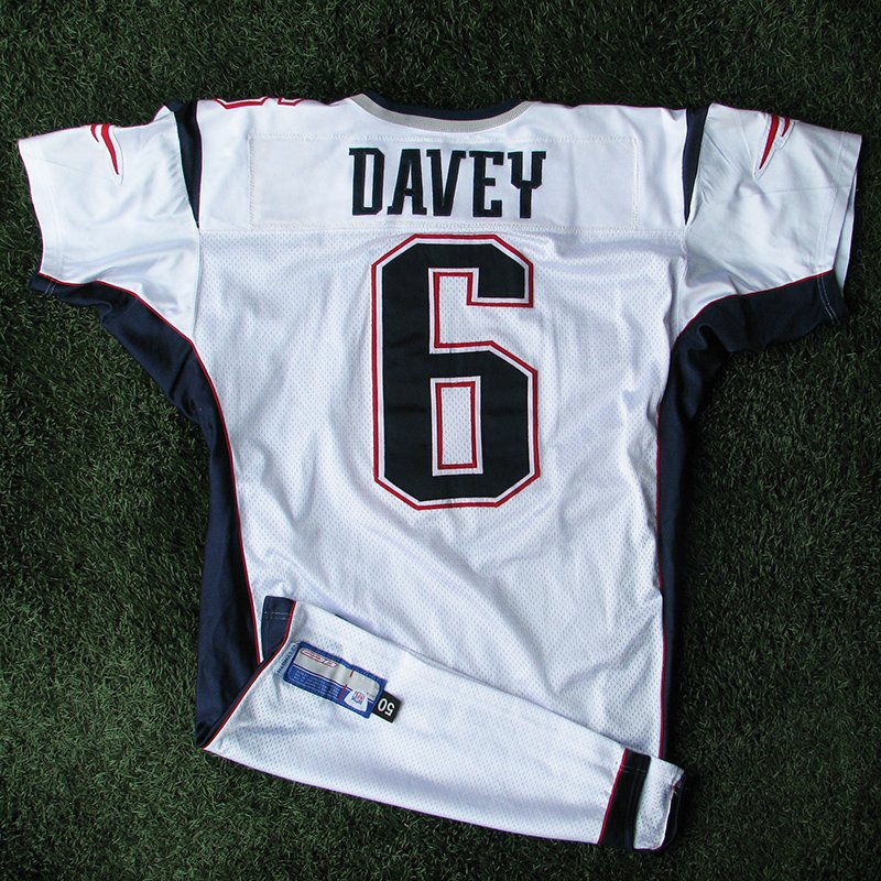 2002 Rohan Davey Team Issued #6 White Jersey