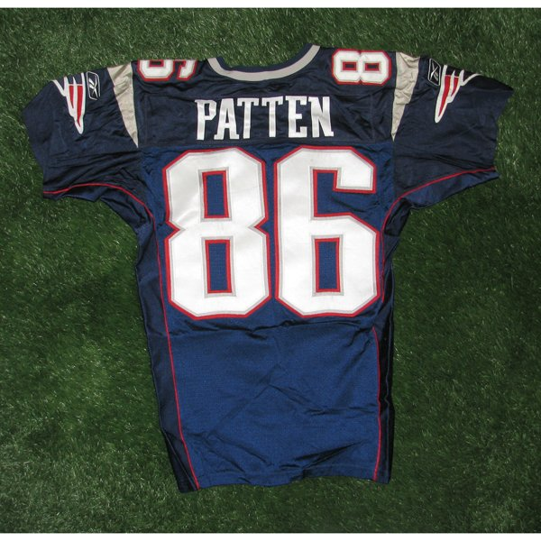 2002 David Patten Game Worn #86 Navy Jersey