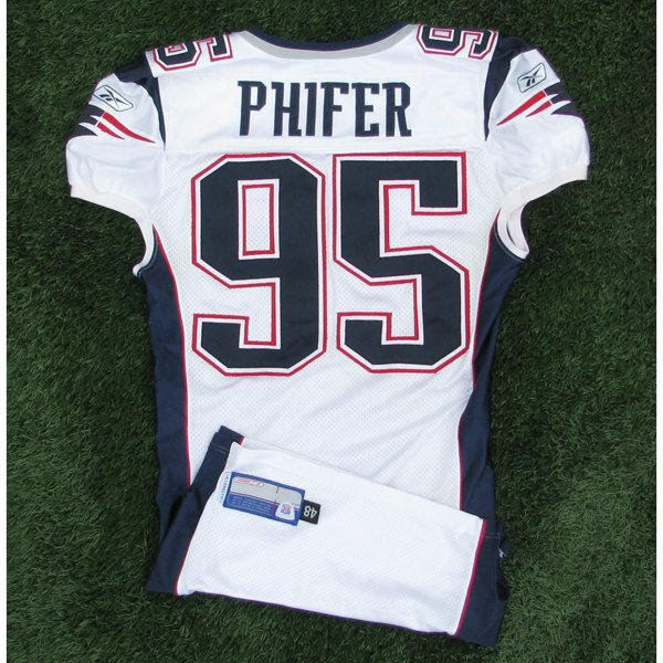 2002 Roman Phifer Game Worn #95 White Jersey