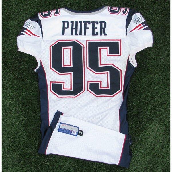 2002 Roman Phifer Game Worn #95 White Jersey