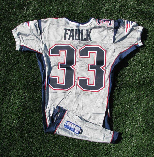 2003 Kevin Faulk Team Issued #33 Silver Jersey
