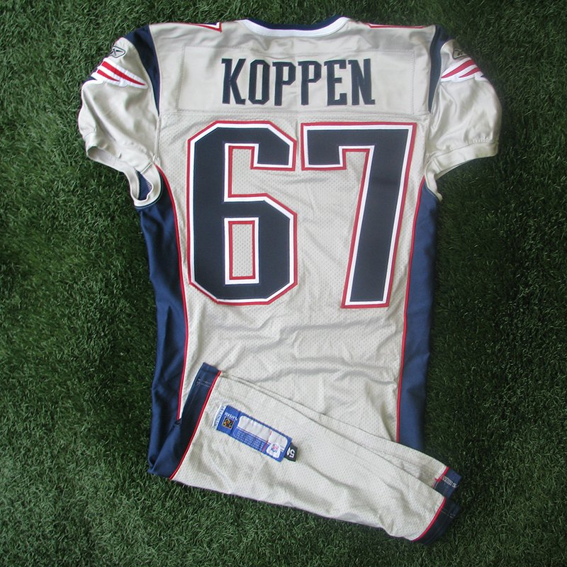 2003 Dan Koppen Team Issued #67 Silver Jersey