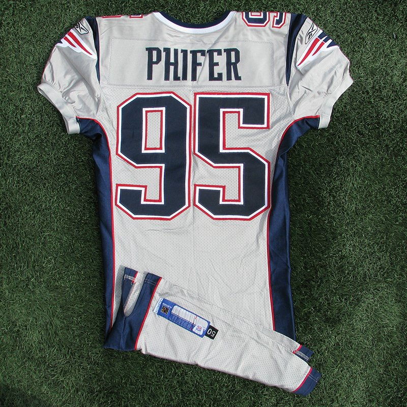 2003 Roman Phifer Game Worn #95 Silver Jersey
