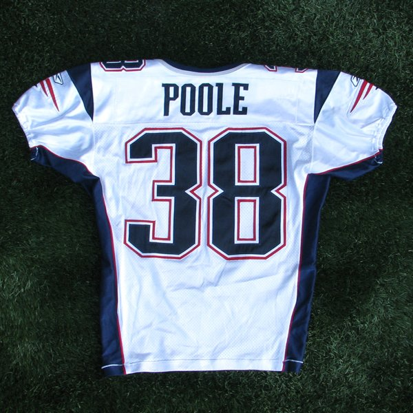2003 Tyrone Poole Game Worn #38 White Jersey