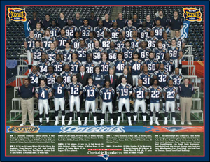 2003 Super Bowl XXXVIII Team Poster