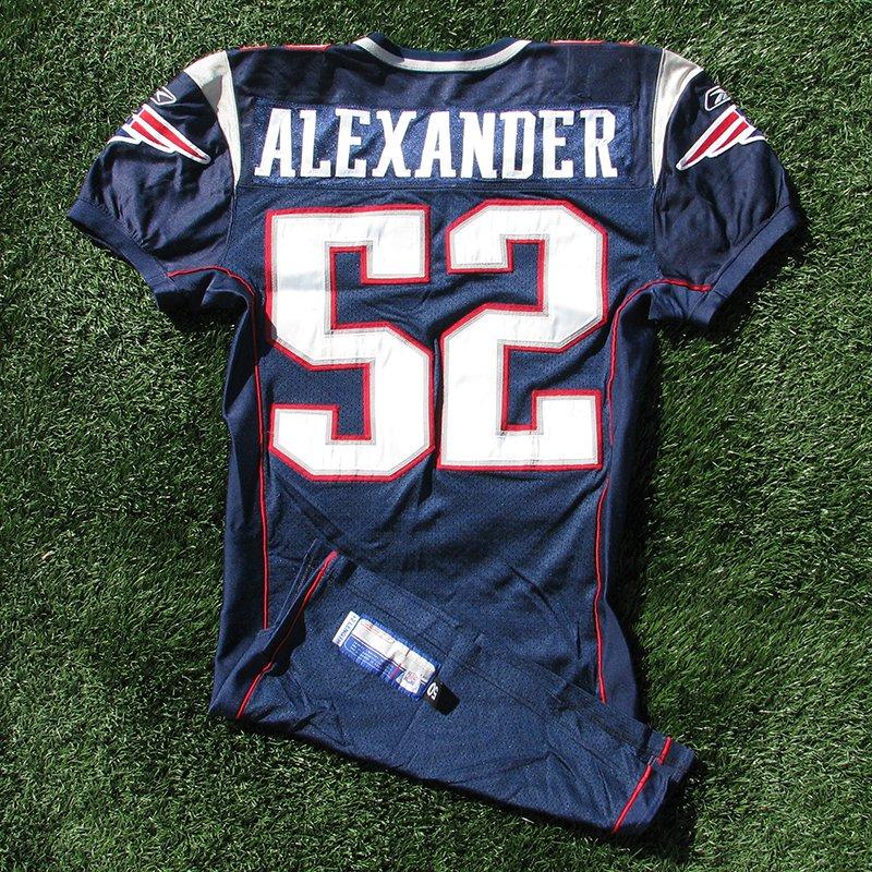 2004 Eric Alexander Game Worn #52 Navy Jersey