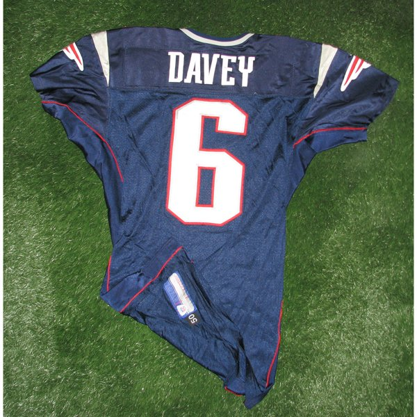 2004 Rohan Davey Game Worn #6 Navy Jersey