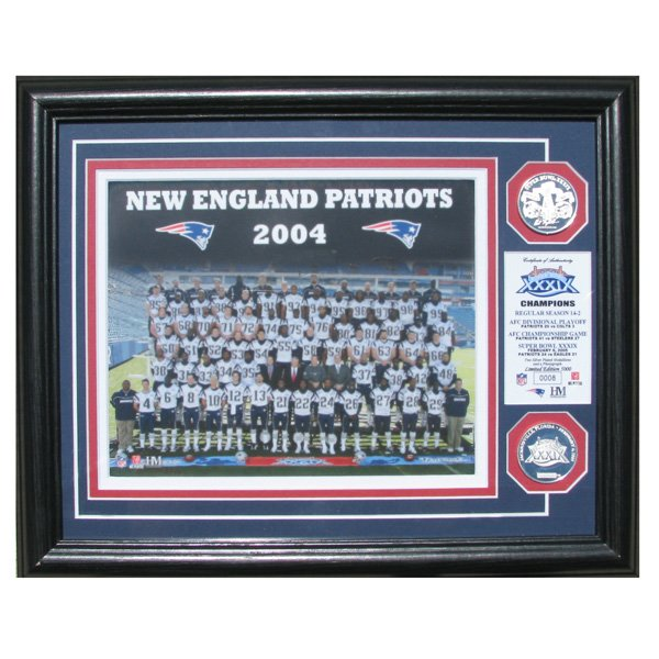 Super Bowl XXXIX Champs Team Photo Mint