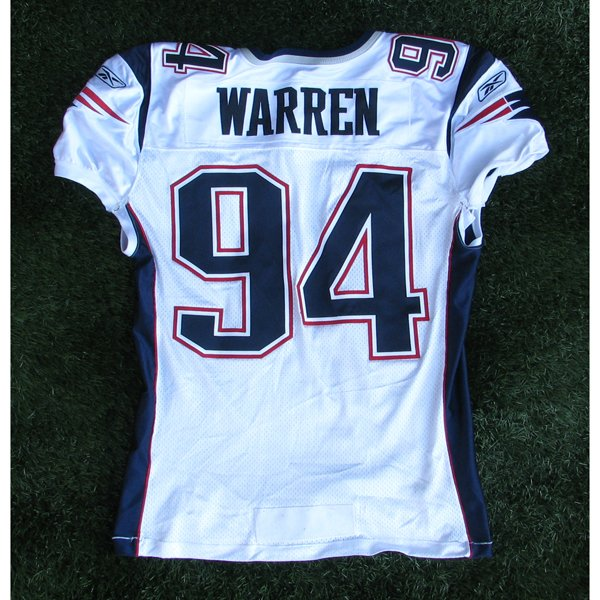 2004 Ty Warren Game Worn #94 White Jersey