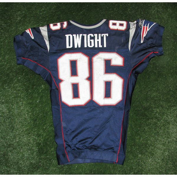 2005 Tim Dwight Game Worn #86 Navy Jersey