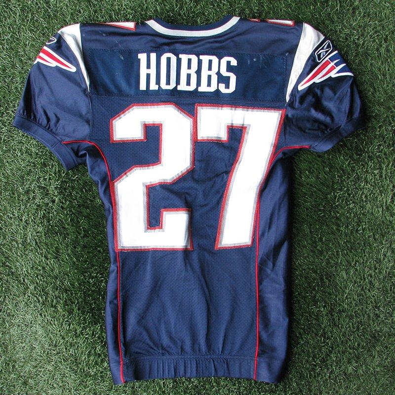 2005 Ellis Hobbs Game Worn #27 Navy Jersey
