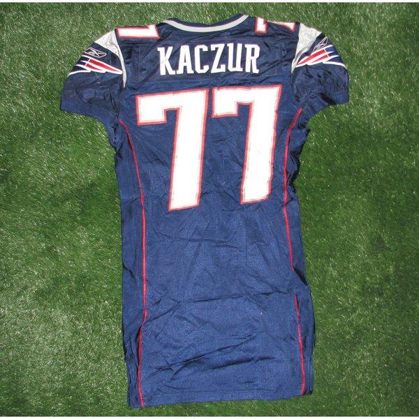 2005 Nick Kaczur Game Worn 77 Navy Jersey