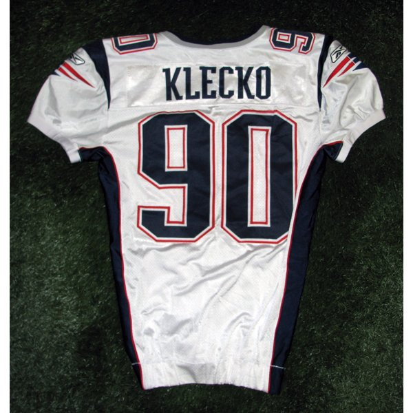 2005 Dan Klecko Game Worn #90 White Jersey