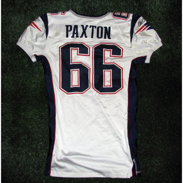 2005 Lonie Paxton #66 Game Worn White Jersey