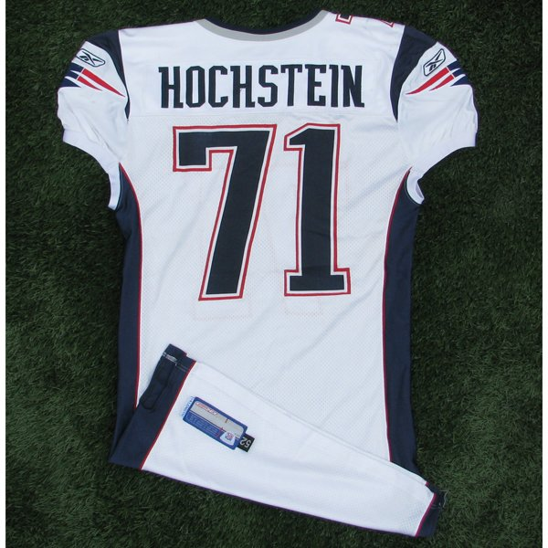 2005 Russ Hochstein Game Worn #71 White Jersey