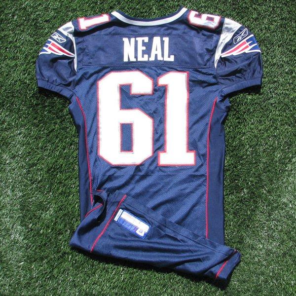 2005 Stephen Neal Game Worn 61 Navy Jersey