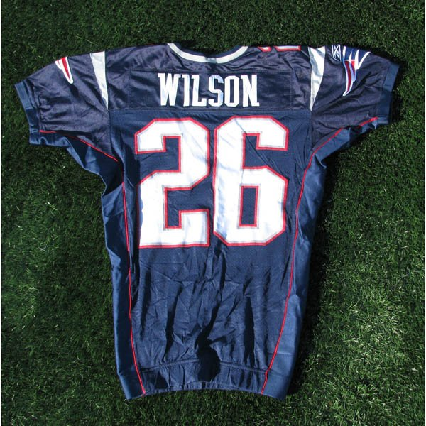 2005 Eugene Wilson Game Worn #26 Navy Jersey w/SB Champ Patch