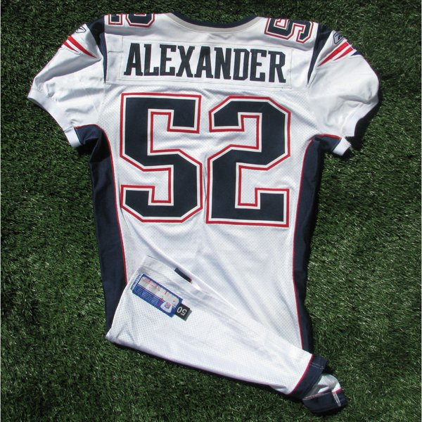 2006 Eric Alexander Game Worn #52 White Jersey