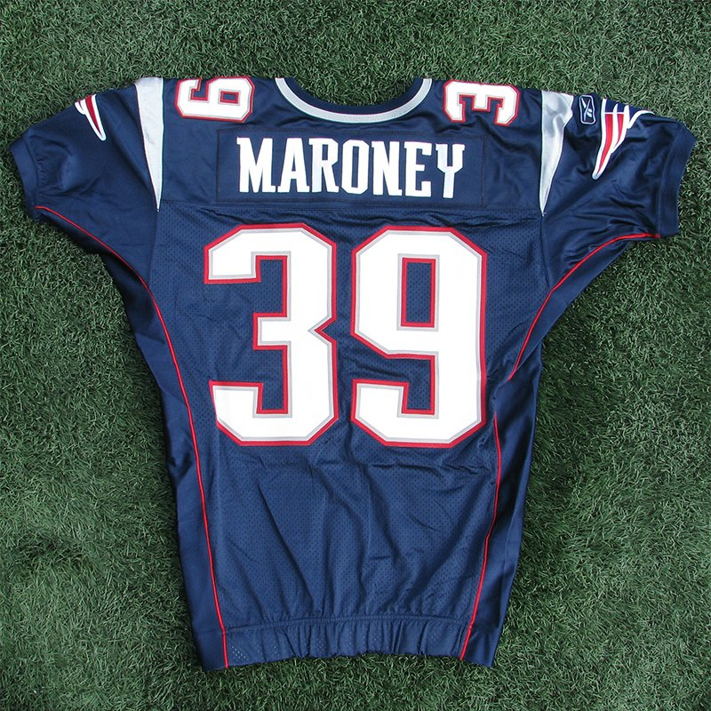 2006 Laurence Maroney Team Issued #39 Navy Jersey