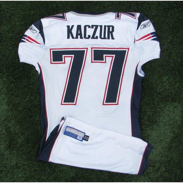 2006 Nick Kaczur Game Worn 77 White Jersey