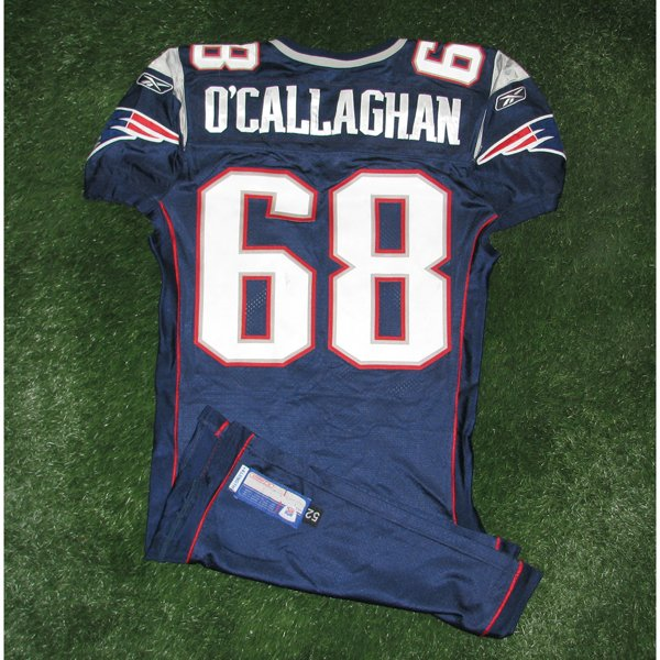 2006 Ryan O'Callaghan Game Worn #68 Navy Jersey