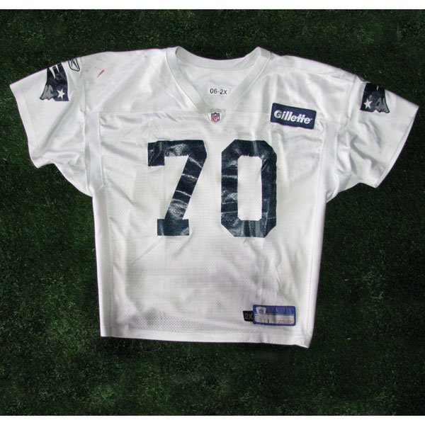 2006-2011 #70 White Practice Worn Jersey