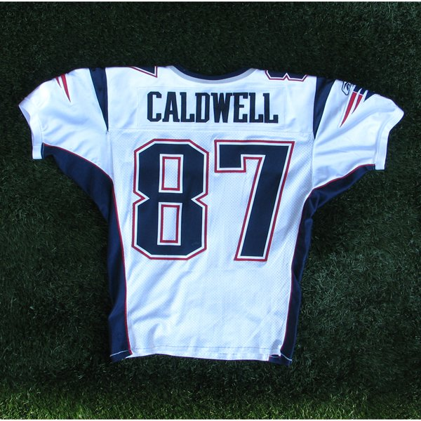 2006 Reche Caldwell Game Worn #87 White Jersey