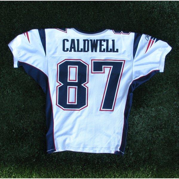 2006 Reche Caldwell Game Worn #87 White Jersey