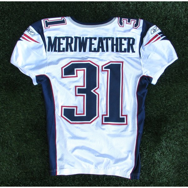 2007 Brandon Meriweather Game Worn #31 White Jersey