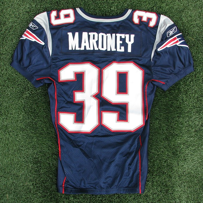 2007 Laurence Maroney Team Issued Navy Jersey