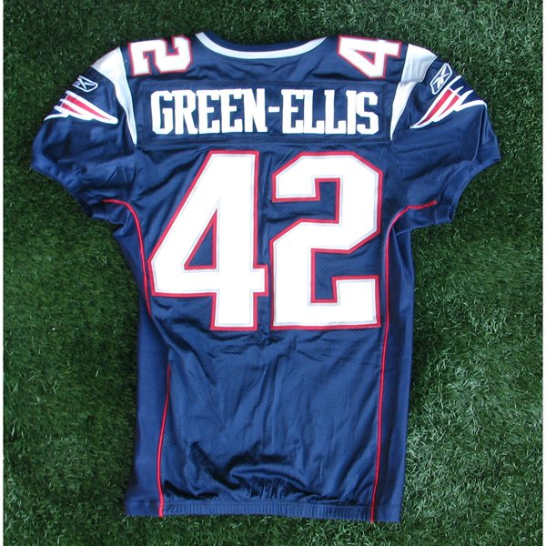 2008 BenJarvis Green-Ellis Game Worn #42 Navy Jersey