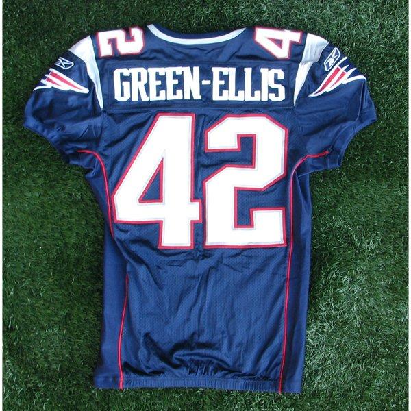 2008 BenJarvis Green-Ellis Game Worn #42 Navy Jersey
