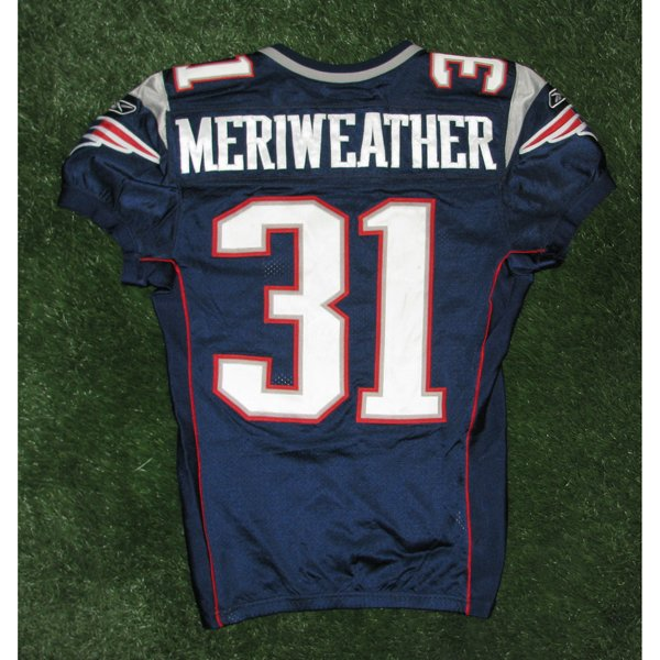 2008 Brandon Meriweather Game Worn #31 Navy Jersey