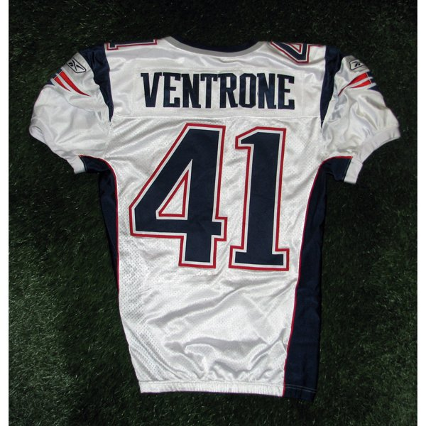 2008 Ray Ventrone Game Worn #41 White Jersey