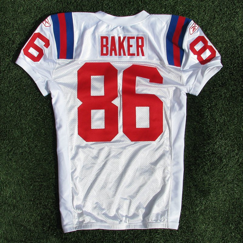 2009 Chris Baker Team Issued #86 Throwback w/50th Patch Jersey