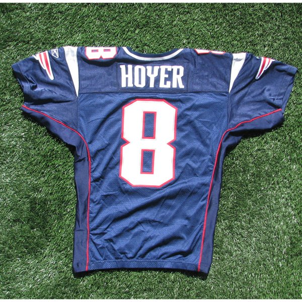 2009 Brian Hoyer Game Worn #8 Navy Jersey