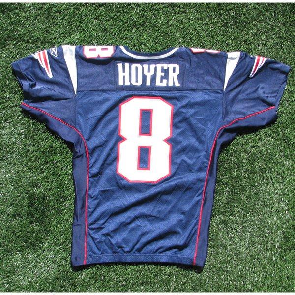 2009 Brian Hoyer Game Worn #8 Navy Jersey