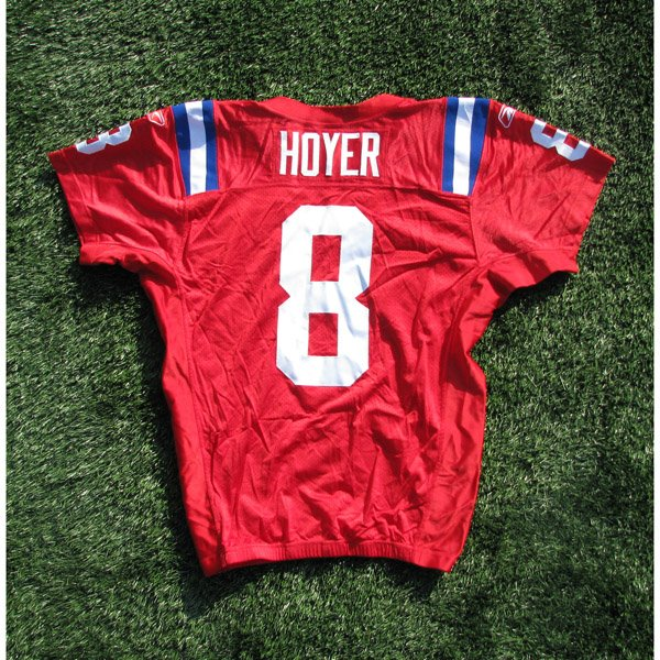 2009 Brian Hoyer Team Issued #8 Throwback w/50Patch Jersey