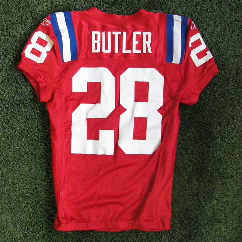 2009 Darius Butler Game Worn #28 Throwback Red Jersey