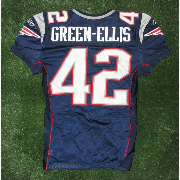 2009 BenJarvus Green-Ellis Game Worn Navy Jersey w/50th Patch