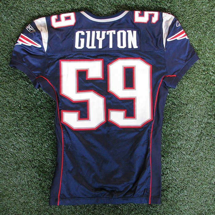 2009 Gary Guyton Game Worn #59 Navy Jersey w/50th Patch
