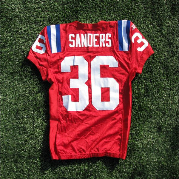 2009 James Sanders Game Worn #36 Throwback w50th Patch Jersey