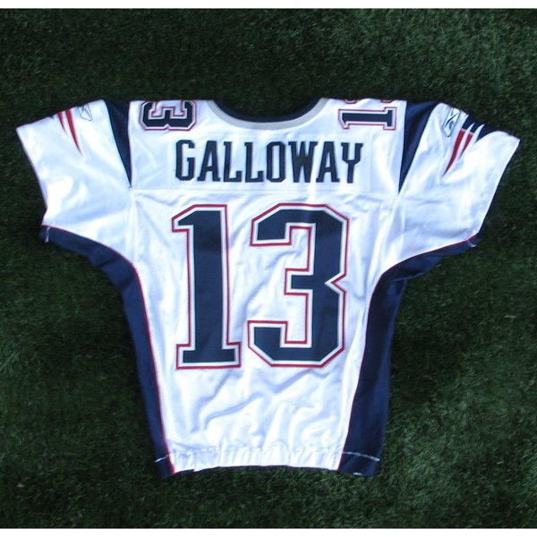 2009 Joey Galloway Team Issued #13 White Jersey w/London Patch