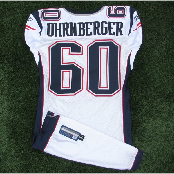 2009 Rich Ohrnberger Team Issued #60 White Jersey w/London Patch