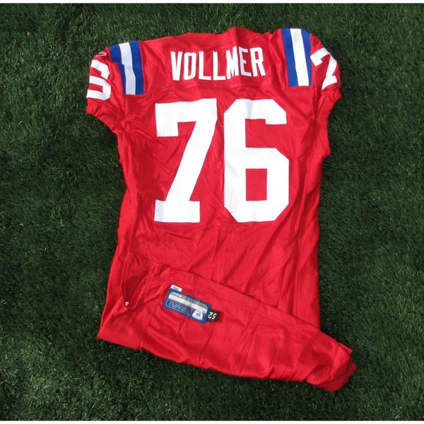 2009 Sebastian Vollmer Game Worn #76 Throwback Jersey w/50th Patch