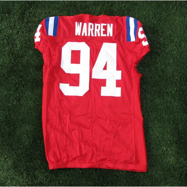 2009 Ty Warren Game Worn #94 Throwback Jersey w/50th Patch